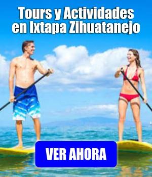 Tours y Actividades en Ixtapa Zihuatanejo: Paseo a Playa Las Gatas, Liberación de Tortugas, Pesca Deportiva, Tour en ATV (Cuatimotos), Stand Up Paddle (SUP), Surf, Zona Arqueológica Xihuacán, Snorkel en Ixtapa Zihuatanejo